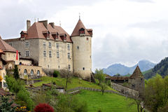 The Castle of Gruyères (Switzerland) Stock Photo
