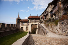 The Castle of Gruyères (Château de Gruyères) Royalty Free Stock Photos