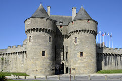 Castle of Guérande in France Stock Photography