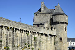 Castle of Guérande in France Stock Photos