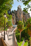 Castle in Guadalest, Alicante, Spain Stock Photos