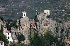 Castle Guadalest in Spain stock photography