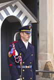 The Castle Guard in Prague. Royalty Free Stock Photos