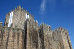 Castle of Guimaraes in Portugal Royalty Free Stock Photo