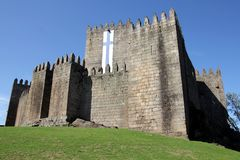 Castle of Guimaraes in Portugal Stock Photography