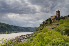 Castle Gutenfels at the Middle Rhine Valley Stock Photography