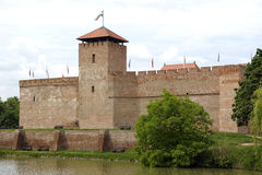 The castle in Gyula, Hungary. The most famous landmark in Gyula, Hungary Royalty Free Stock Photos