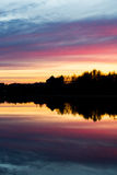 The Castle of Häme in a sunset. A silhouette of the Castle of Häme in Hämeenlinna, Finland Royalty Free Stock Photos