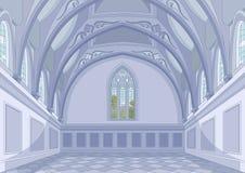 Castle Hall. Illustration of medieval castle hall vector illustration