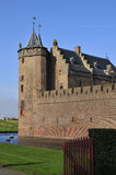 Castle and harbor in Holland Royalty Free Stock Image