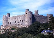 Castle, Harlech, Wales. Stock Photo
