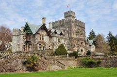 Castle in hatley park royalty free stock photo