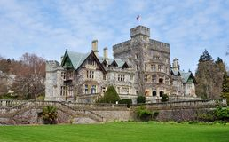 Castle in hatley park Stock Photo