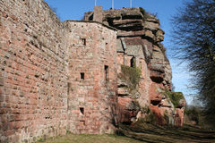 Castle of Haut-Barr in Alsace Stock Photography
