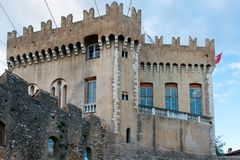 Castle of Haut de Cagnes Stock Photo