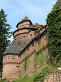 Castle haut koenigsbourg alsace france Royalty Free Stock Images