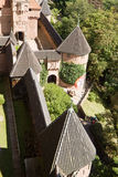 Castle Haut-Koenigsbourg in Alsace, France, view from above Stock Photo