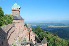 The castle of Haut-Koenigsbourg in France. stock photography