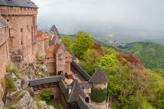 Castle of Haut-Koenigsbourg. France Royalty Free Stock Images