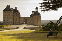 Castle Hautefort Dordogne France Royalty Free Stock Photo