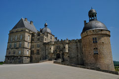 Castle of Hautefort in Dordogne Stock Photo