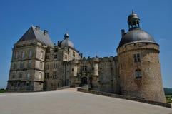 Castle of Hautefort in Dordogne Stock Photo
