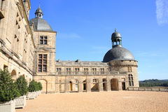 Castle of Hautefort in France Royalty Free Stock Photos