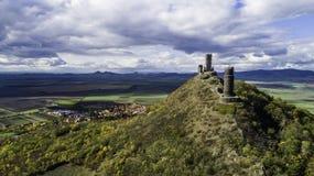 Free Castle Hazmburk. Ruines Of Hazmburk Castle On Top Of Mountain Peak Of Ceske Stredohori Range.  Medieval Castle With Views On Czech Stock Photography - 166200612