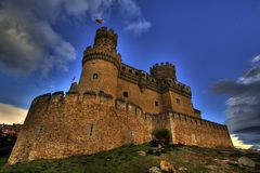 Castle HDR royalty free stock photo