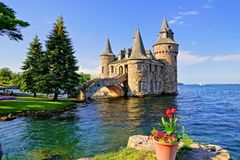 Boldt Castle, Thousand Islands, New York state, USA. Castle on Heart Island, one of the Thousand Islands, New York state, USA royalty free stock photography