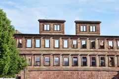 Castle of Heidelberg of Germany. A broken wall of castle of Heidelberg of Germany. Deutschland stock photos