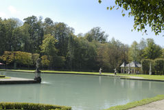 The Castle of Hellbrunn in Salzburg in Austria with its many `trick` fountains Royalty Free Stock Photography