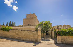 Castle of Henry II of Castile in Ciudad Rodrigo, Spain. Castle of Henry II of Castile, 14th Century, in Ciudad Rodrigo, a small cathedral city in the province Royalty Free Stock Photo