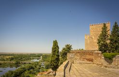 Castle of Henry II of Castile in Ciudad Rodrigo, Spain. Castle of Henry II of Castile, 14th Century, in Ciudad Rodrigo, a small cathedral city in the province Royalty Free Stock Image