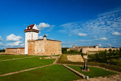 Castle of Herman and Ivangorod fortress Stock Photo