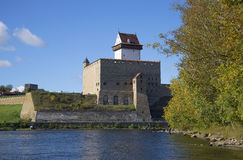 The castle Herman in Narva on sunny day Stock Photos