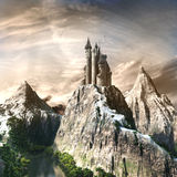 Castle in the high mountains Royalty Free Stock Photography