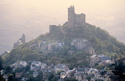 Castle on hill Stock Photos