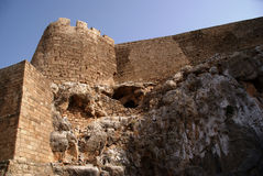 Castle on the hill. Greece,Rhodes,Lindos stock photography