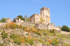 Castle on the hill. Big castle at the edge of the cliff Stock Photography