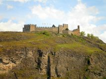 Castle on the Hill. Fantastic view of a ruined castle on the hill royalty free stock photography