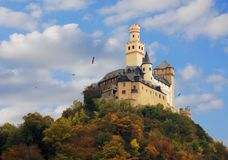 Castle on the hill Royalty Free Stock Photography