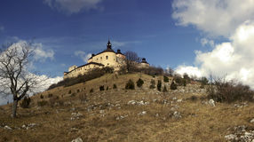 Castle on hill Royalty Free Stock Image