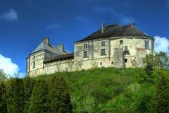 Castle on the hill. Olesko castle in West Ukraine Royalty Free Stock Photo