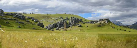 Castle Hill, Arthur`s Pass National Park Royalty Free Stock Image