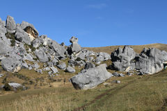 Castle Hill at Arthur`s Pass, South Island. New Zealand, Battle scenes, The chronicles of Narnia, Limestone Rock, Limestone boulder, Darfield, the Kura Tawhiti Royalty Free Stock Image