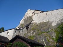 Castle on a hill in austria Royalty Free Stock Photo
