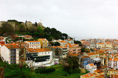 Castle hill and Baixa, Lisbon, Portugal Stock Photography