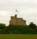 Castle on the hill Cardiff Royalty Free Stock Photo
