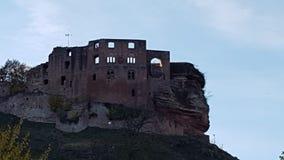 Castle on hill. Castle hill landscape outside sky royalty free stock photo